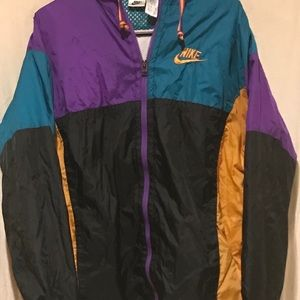 Vintage Nike Color Block windbreaker Jacket Sz XL